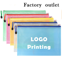 wholesale customized plastic mesh zipper bags    customized  company's ads and logo print