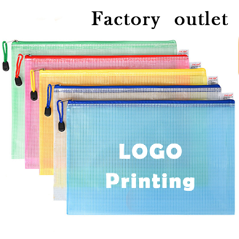 wholesale customized plastic mesh zipper bags customized company 39 s ads and logo print in File Folder from Office amp School Supplies