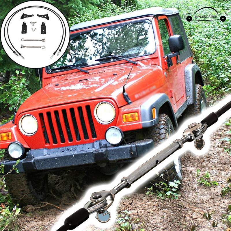 Конечностей стояки комплект для Jeep Wrangler TJ 1997-2006 препятствием устранить веревку через джунглей протектор экстерьера автомобиля koleroader/