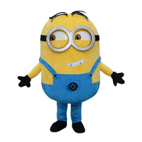 Despicable Me 2 Mascot Costume Despicable Me Minion Costume Mascot Fancy Cartoon Costume Free Shipping