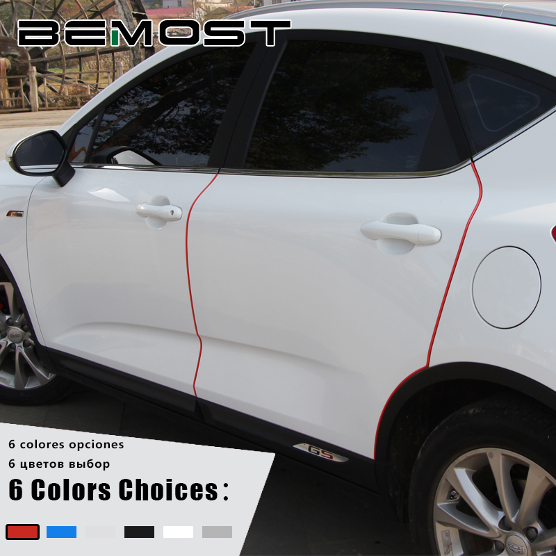 BEMOST Car Door Edge Crash Strip Protection Scratch Sticker Styling For Ford For Focus 2 For S-MAX Galaxy Kuga Edge Mondeo B-MAX cawanerl for ford fiesta focus kuga s max c max mondeo galaxy car styling led number license plate light white 12v accessories