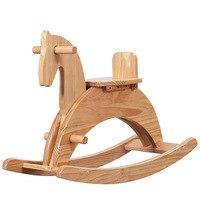 Детское кресло из массива дерева, лошадка качалка, детские игрушки, детская лошадка качалка, подарок для детей 1 6 лет
