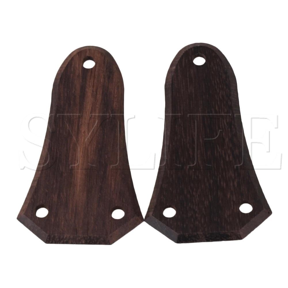 2PCS Guitar Ebony Truss Rod Covers New
