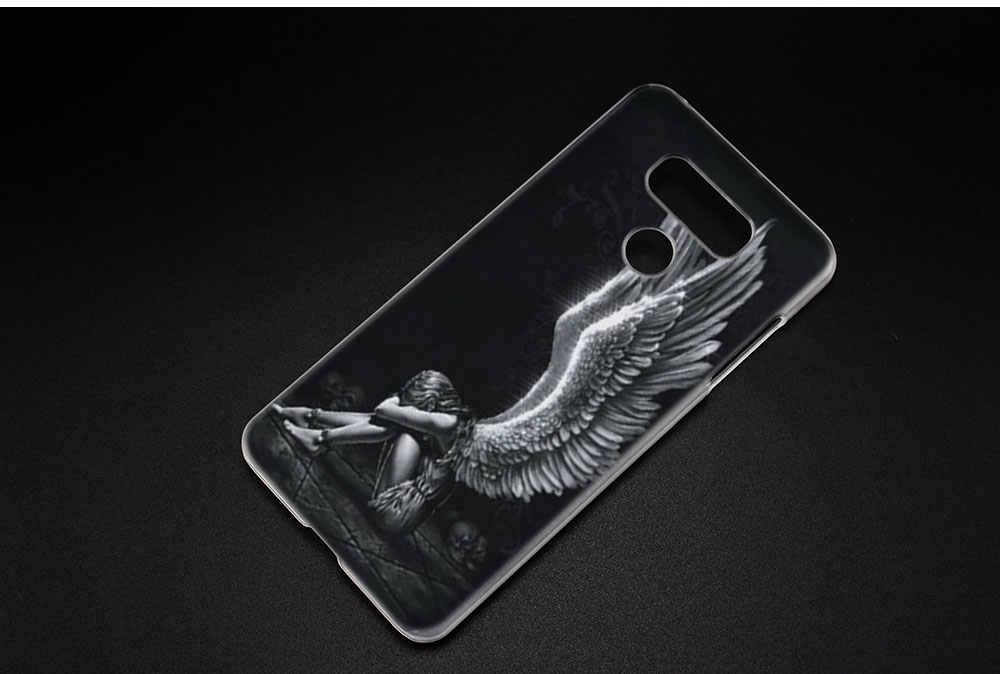 BINYEAE с «крыльями ангела» жесткий прозрачный чехол для LG q6 G6 мини G5 SE G4 G3 V10 V20 V30