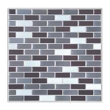 Epoxy + Kunststoff 3D Fliesen Mosaik 9x9 Inch Backsplash Fliesen Für  Badezimmer Und Küchen Wand Fliesen Kristall Pvc Küche Wand .