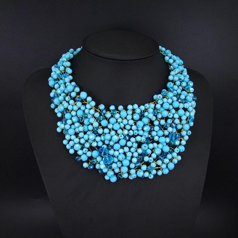collier 2015 handmade beaded necklace big chunky luxury nigerian ...