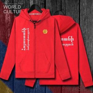 Image 4 - アルメニアアルメニアアーム AM メンズフリースパーカー冬ジャージ男性コートジャケットとトラックスーツ服カジュアルネイション国 2018