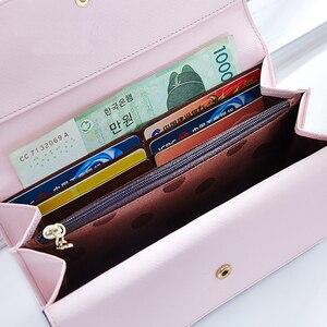 Image 2 - MONNET CAUTHY portefeuille pour femme concis loisirs doux mode Style coréen dame bonbon couleur vert rose noir gris longs portefeuilles