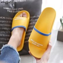 купить 2019 Summer Men Couples Home Slippers Non-slip Slides Bathroom Lovers Outdoor Beach Slippers Sandals Soft Sole Flip Flops по цене 745.76 рублей