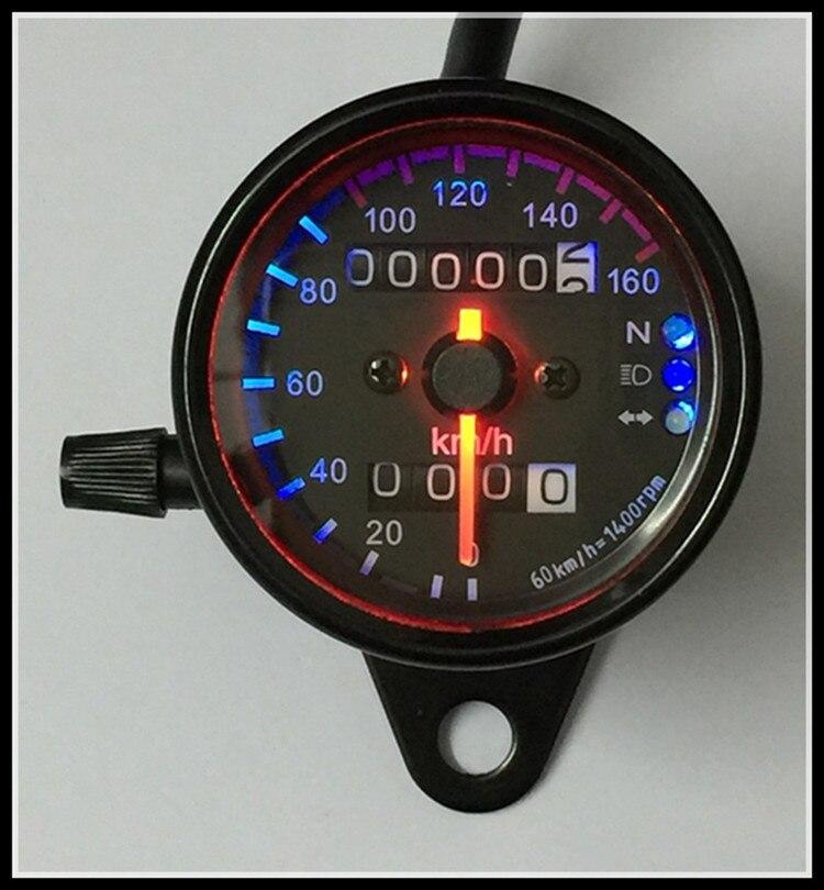 Motocicleta odômetro moto LED 12 V Universal tipo motocicleta com o sinal de luz Da Motocicleta Velocímetro
