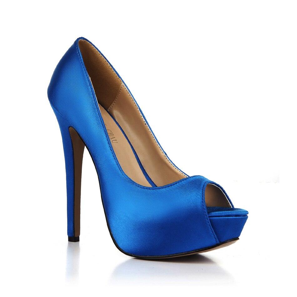 Señoras Tacones Mujeres black Atractivos Ivory Altos blue De h3 Plataforma Partido Del red Las Satinado 2017 Zapatos Bombas Mujer Peep gold 3463b La Nueva Los Marfil Mbt Estilete Toe w4aqTzU