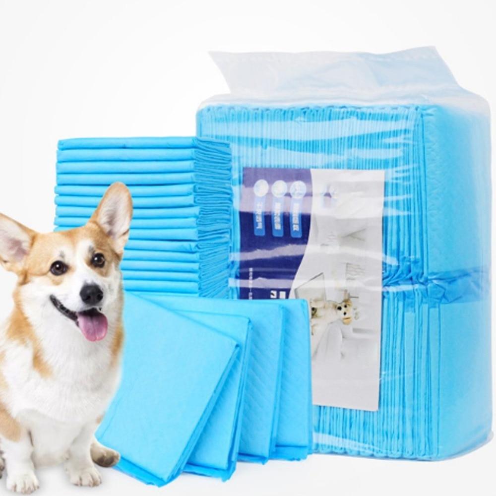 100 pz Pannolini Per Animali Super Assorbente Pet Addestramento Del Cane Pannolini Pad Urine per Cani Cane di Animale Domestico di Pulizia Antibatterico Pannolino 33x45 cm