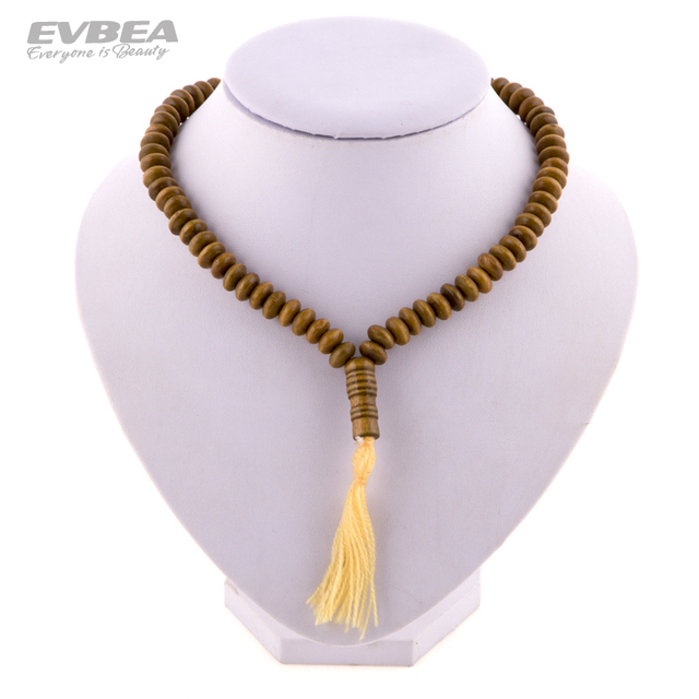 Bijoux Men's Tassels Wooden Bead Necklaces Statement  Ethnic Long Chokers  Body Chains for Women's Fashion Jewelry Accessories