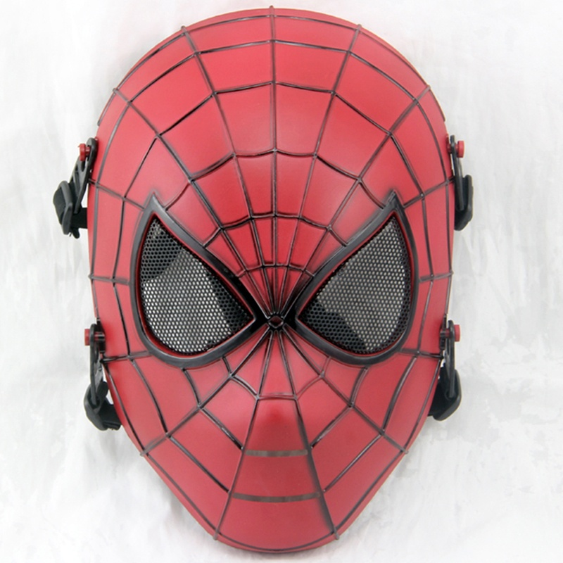 DC19 Spiderman Military Tactical Airsoft Skull Full Face Mask Outdoor Wargame Paintball Cosplay Halloween Party Protection Gear