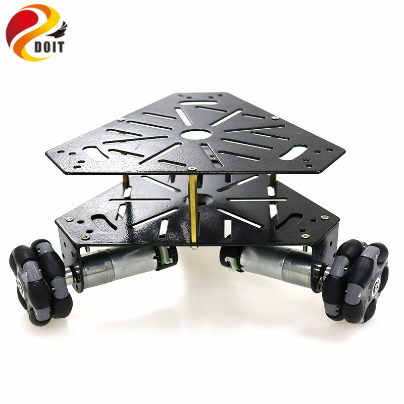 3WD Omni Wheels Robot Car Chassis Stainsteel Frame with 3pcs DC 9V motor for DIY Toy Car Owi Robot Competition3WD Omni Wheels Robot Car Chassis Stainsteel Frame with 3pcs DC 9V motor for DIY Toy Car Owi Robot Competition