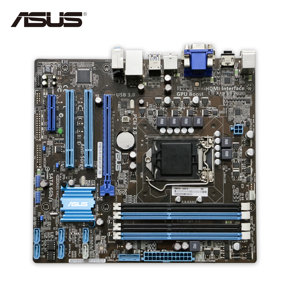 Asus P8B75-M DP Original Used Desktop Motherboard B75 Socket LGA 1155 i3 i5 i7 DDR3 SATA3 USB3.0 uATX On Sale asus p8h61 m lx3 original used desktop motherboard h61 socket lga 1155 i3 i5 i7 ddr3 16g uatx on sale