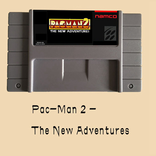 Pac-Man 2-The New Adventures 16 bit Big Gray Game Card For NTSC