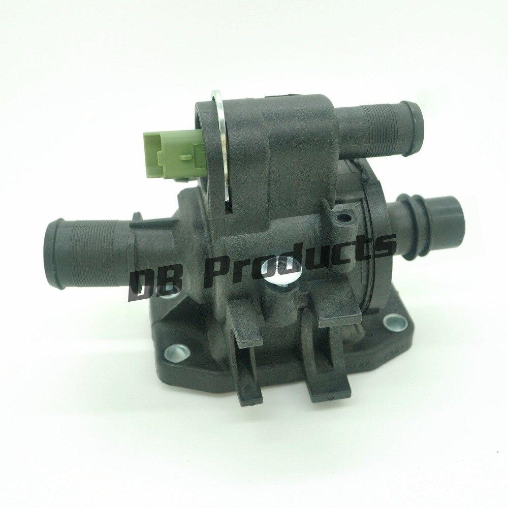Boîtier de thermostat de liquide de refroidissement avec capteur pour ford fiesta peugeot 107 207 207 307, suzuki liana, toyota aygo 2S6Q-8A586-AD 9654393880