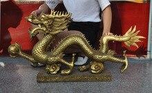 Christmas Chinese Brass fengshui Evil spirits Guardian Door Foo dog Lion beast statue Pair Halloween