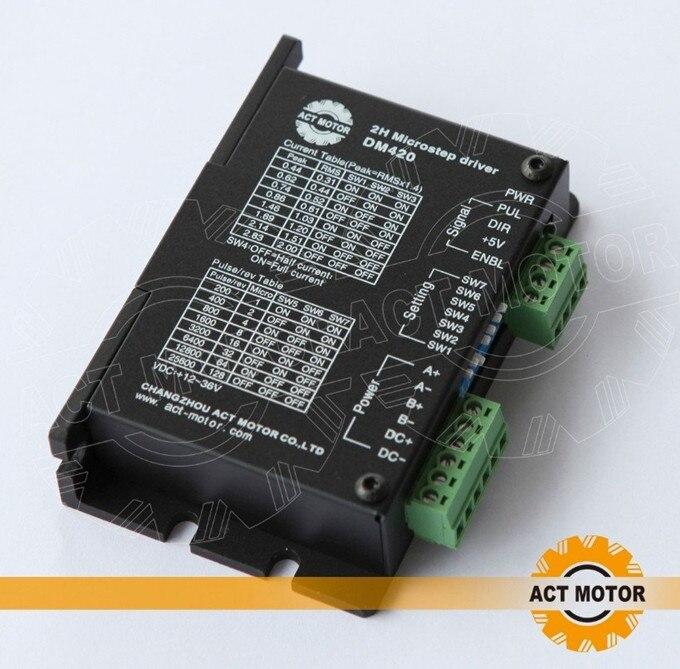 Top Quality! ACT Stepper Motor Driver DM420 36V 1.7A 128Micro 3D Printer CNC Router for Nema11 16 17 Stepper Motor