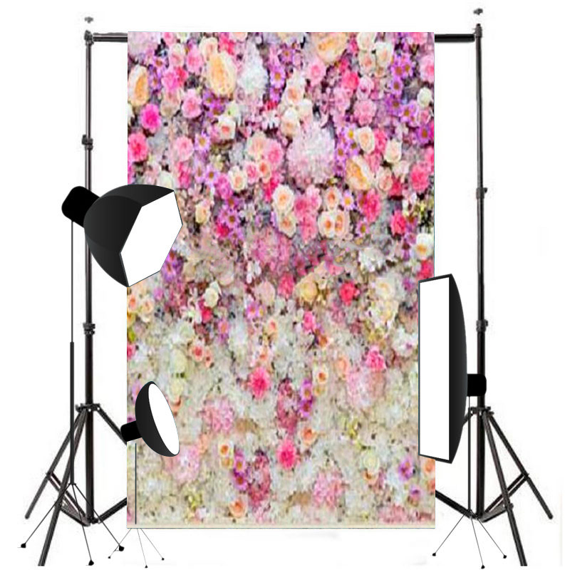 Mayitr 5x7FT Flower Wall Backdrop Wedding Cloth Photography Background Suitable For Photo Studio Props