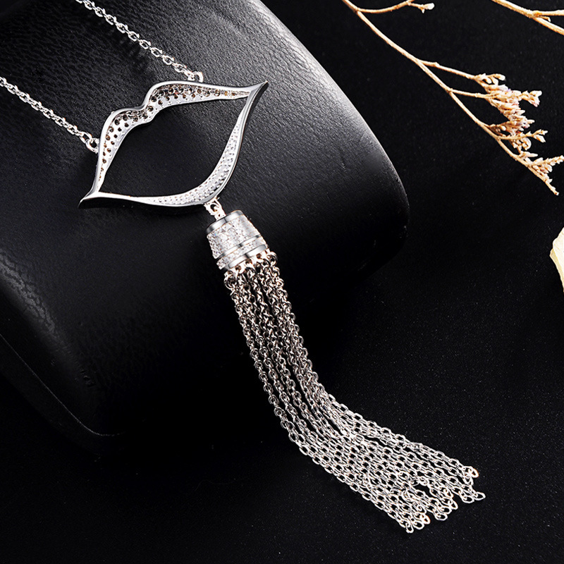 2018 Real Buda Chakra Popsocket Necklaces Zircon Sweater Chain Long Big Lips Female Sets Of Japan And South Korea Fashion New arany jános buda halála hún rege