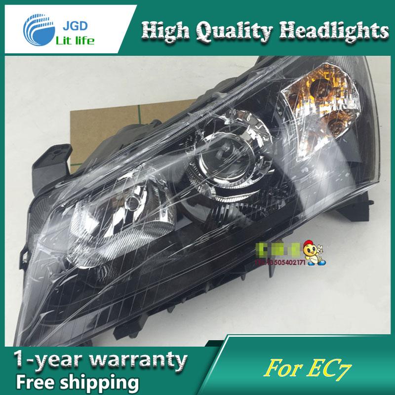Car Styling Head Lamp case for GEELY EMGRAND EC7 EC718 EC7 2014-2016 Headlights LED Headlight DRL Lens Double Beam Bi-Xenon