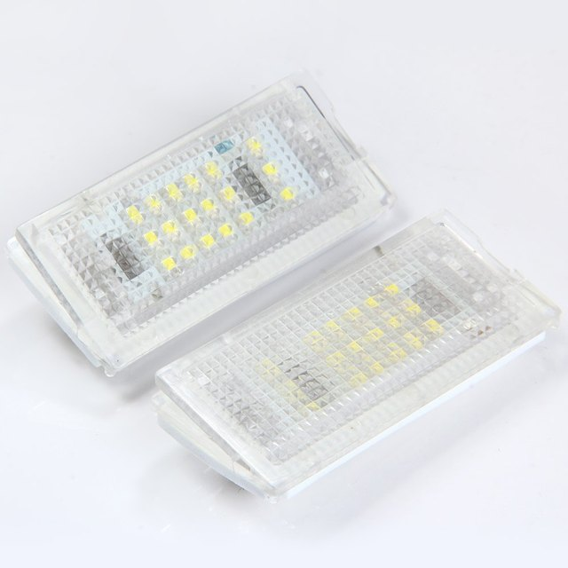 Auto Car License Plate Light High Brightness White Light 18 LEDs 1.44W Number License Plate Lamp for BMW Mini Cooper R50 R52 R53