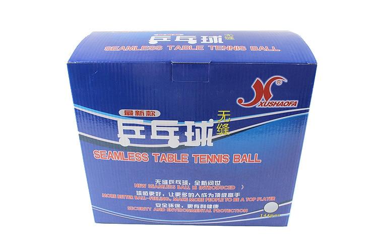 XUSHAOFA 40 1 star New Material Seamless PP BallTable Tennis ball ping pong ball 144pcs box