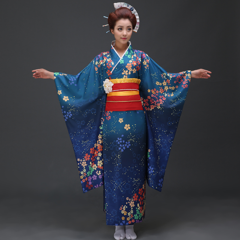 The New 2017 High-grade Traditional Japanese Kimono Show Ms Long Stage
