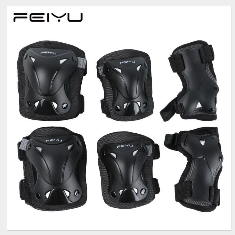 FEIYU Complete Skateboard Longboard Protective Pads Inline/Roller Skate Wrist/Elbow/Knee Protection Gear destroyer pro elbow xl purple skateboard pads