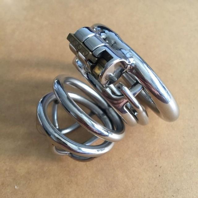 Nova inoxidável anti-off dispositivos cb6000s dispositivo de castidade gaiola anel de pénis de metal do sexo masculino homens gaiolas galo brinquedos sexuais para homem