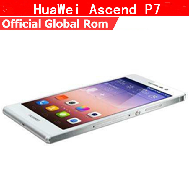 "Глобальная прошивка Huawei Ascend P7 4G LTE мобильный телефон 4 ядра Android 4,4 5,0 ""FHD 1920×1080 ГБ 2 Гб оперативная память 16 ГБ Встроенная 13.0MP Dual Sim"