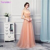 Chất Lượng cao Mềm Tulle Orange Dài Prom Dresses Đính Cườm Tắt Shoulder Cô Gái Prom Đảng Gown
