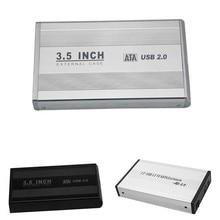 New 3.5 inch USB 2.0 SATA External HDD HD Disk Hard Drive Enclosure Case Cover External Storage Box XXM