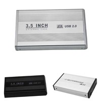 3.5 pouce USB 2.0 SATA DISQUE DUR Externe HD Disque Dur Boîtier de Disque Cas De Couverture Externe Boîte De Rangement avec Adaptateur XXM