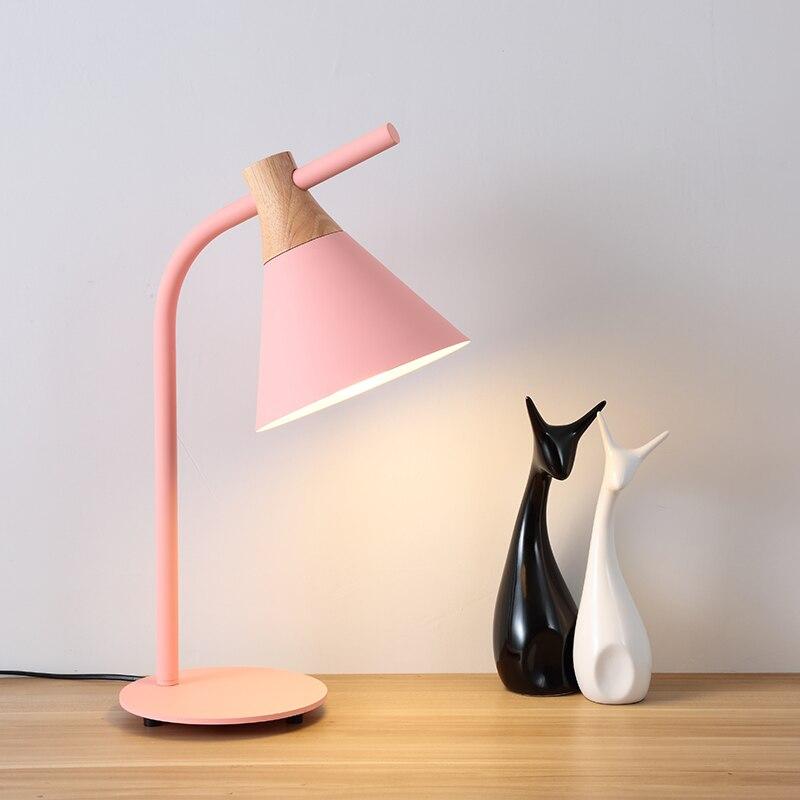 Nordic postmodernen minimalistischen gelb grün grau rosa kreative büro schreibtisch schlafzimmer LED schreibtisch lampe nacht lesen - 2