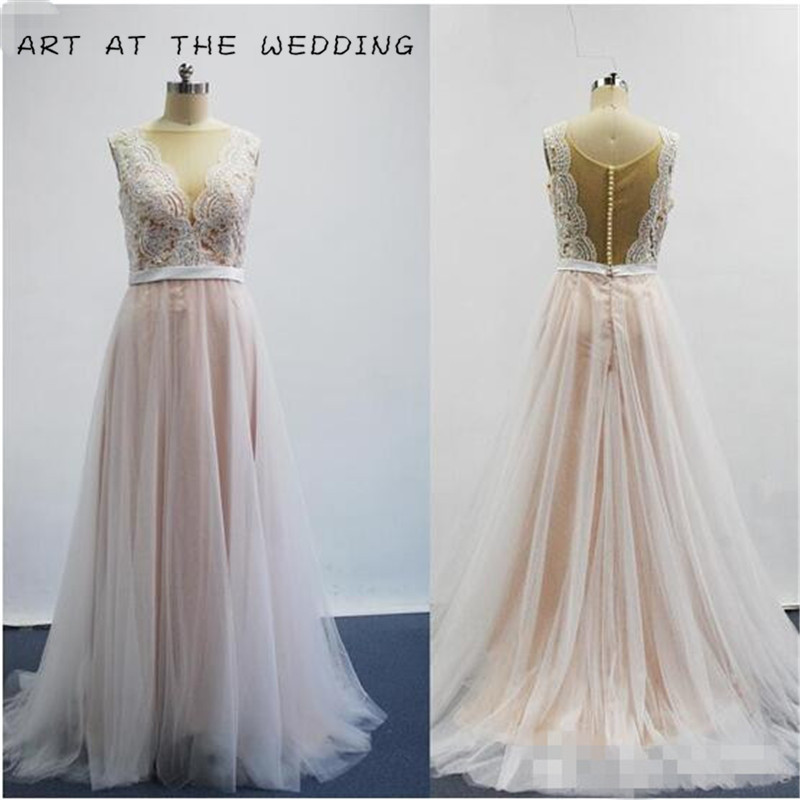 Us 99 89 Sexy Glamorous Tulle Backless Wedding Dress Robe De Mariage Bride Dress Simple Casual Wedding Gown Cheap Hot Sale Elegant In Wedding