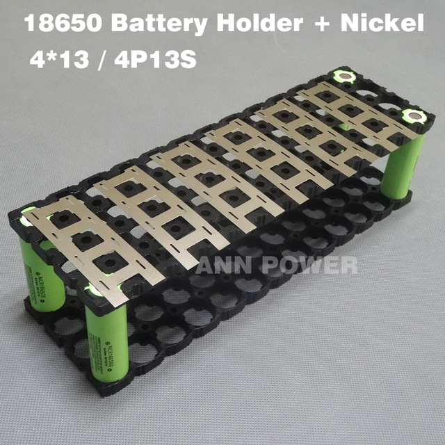 Free Shipping 4P13S 18650 battery holder + 4P2S Nickel strip for 13S 48V 10Ah li ion battery 4*13 holder and 4*2 nickel belt