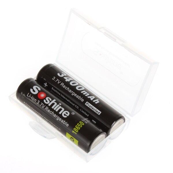 Baterias Recarregáveis 2 pcs 3.7 v 3400 Capacidade Nominal : 3001-3500 MAH