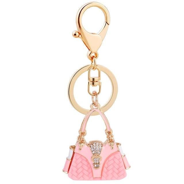 High Quality New Resin Handbag Keychains Brand Key Chains Ring Fashion Keyrings Women Bag Charm Car