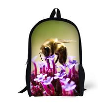 Honeybee Printing Backpack Children School Bags For Teenager Boys Girls 17 Inch Backpacks Laptop Backpack Mochila Bag star universe printing backpack bag children school bags for teenager boys girls backpacks laptop backpack