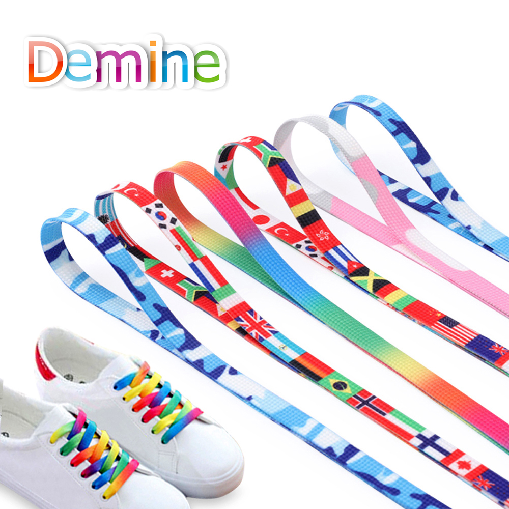 Polyester Cotton Sneaker SHOELACES Many Colors Shoe Lace Strings FLAT Athletic