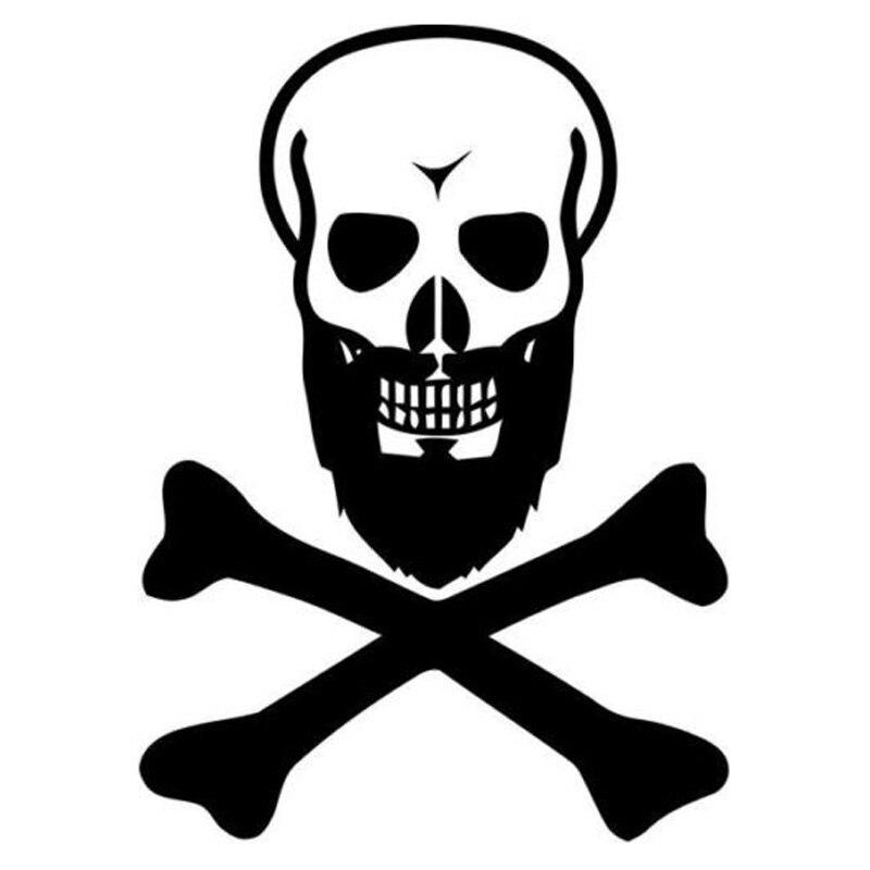 10 3cm14 2cm black beard skull fashion vinyl stickers car styling black silver