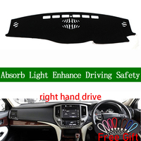 Right Hand Drive For Toyota crown 2015 2016 2017 2018 Dashboard Cover Car Stickers Car Accessories