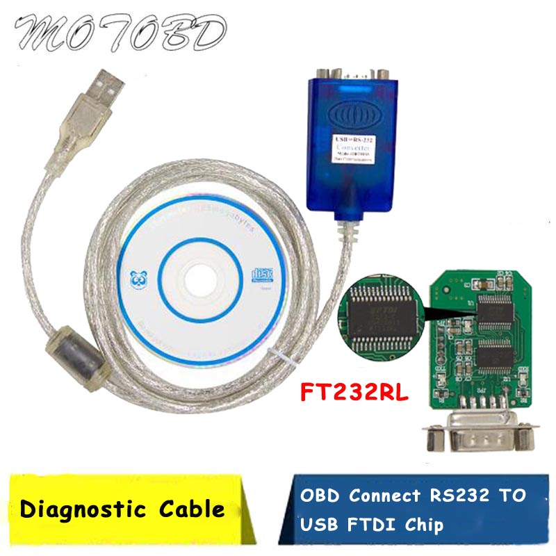 NEW OBD2 Connector RS232 TO USB Serial Adapter FTDI FT232RL Chip OBD  Extension cable USB2.0 COM Port Driver For Windows 10, 8, 7|Car Diagnostic  Cables & Connectors| - AliExpress
