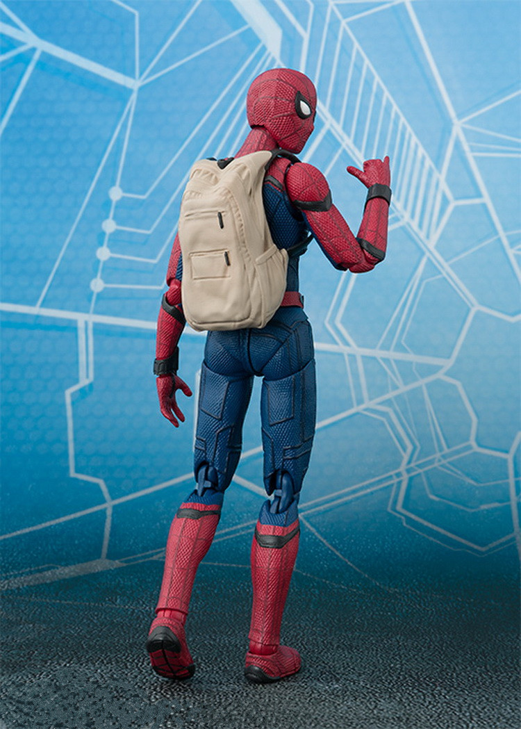 1pcs Action Figures Toys Kids Gifts Toy Pvc Collections Model For Spider Man Homecoming The Spiderman Simple Style & Herioc 14cm figma x man series spiderman figure no 001 revoltech deadpool with bracket no 002 revoltech spider man action figures