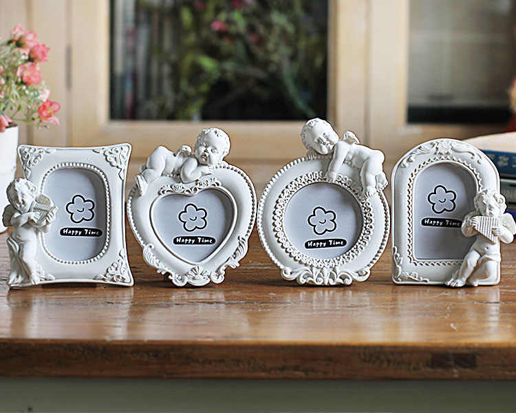Heart Round Rectangle Oval Shaped Photo Frames For Kids, 2 Inch Mini Wedding Gift Picture Frame White Photo Frame, fotolijstje