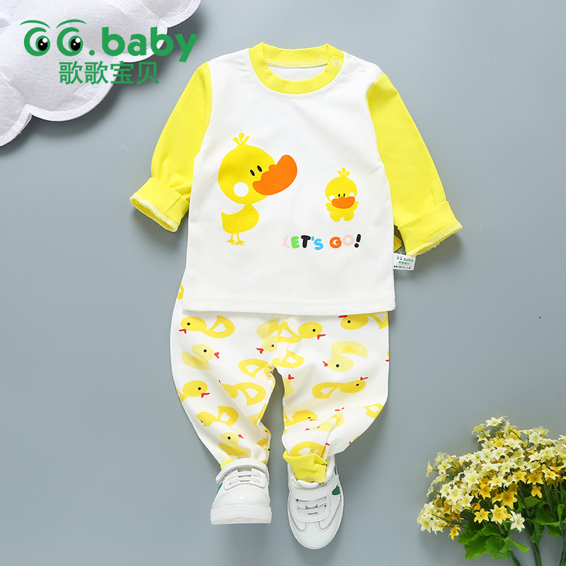 Baby Girl Set Clothes Newborn Duck Baby Boy Clothing Set Kid Baby Sets Clothes Long Sleeve Baby Boy Outfits Kids Clothes Pajamas 2pcs set baby clothes set boy
