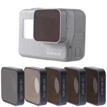 Fotofly go pro hero 5 6 7 렌즈 액세서리 uv cpl nd 4 8 16 gopro hero5/6/7 블랙 액션 카메라 용 중립 밀도 필터 세트